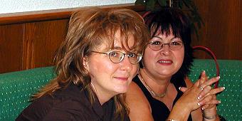 Mari und Giesela im September 2003