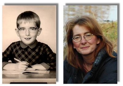 Mari als 6-jährige und heute